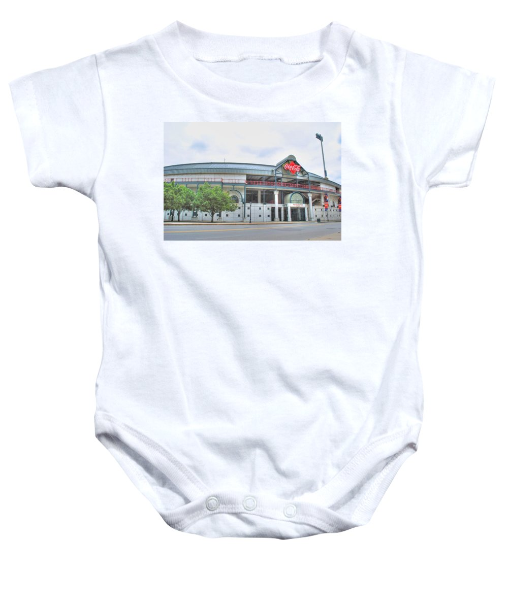 Baby Onesie featuring the photograph Coca Cola Field by Michael Frank Jr
