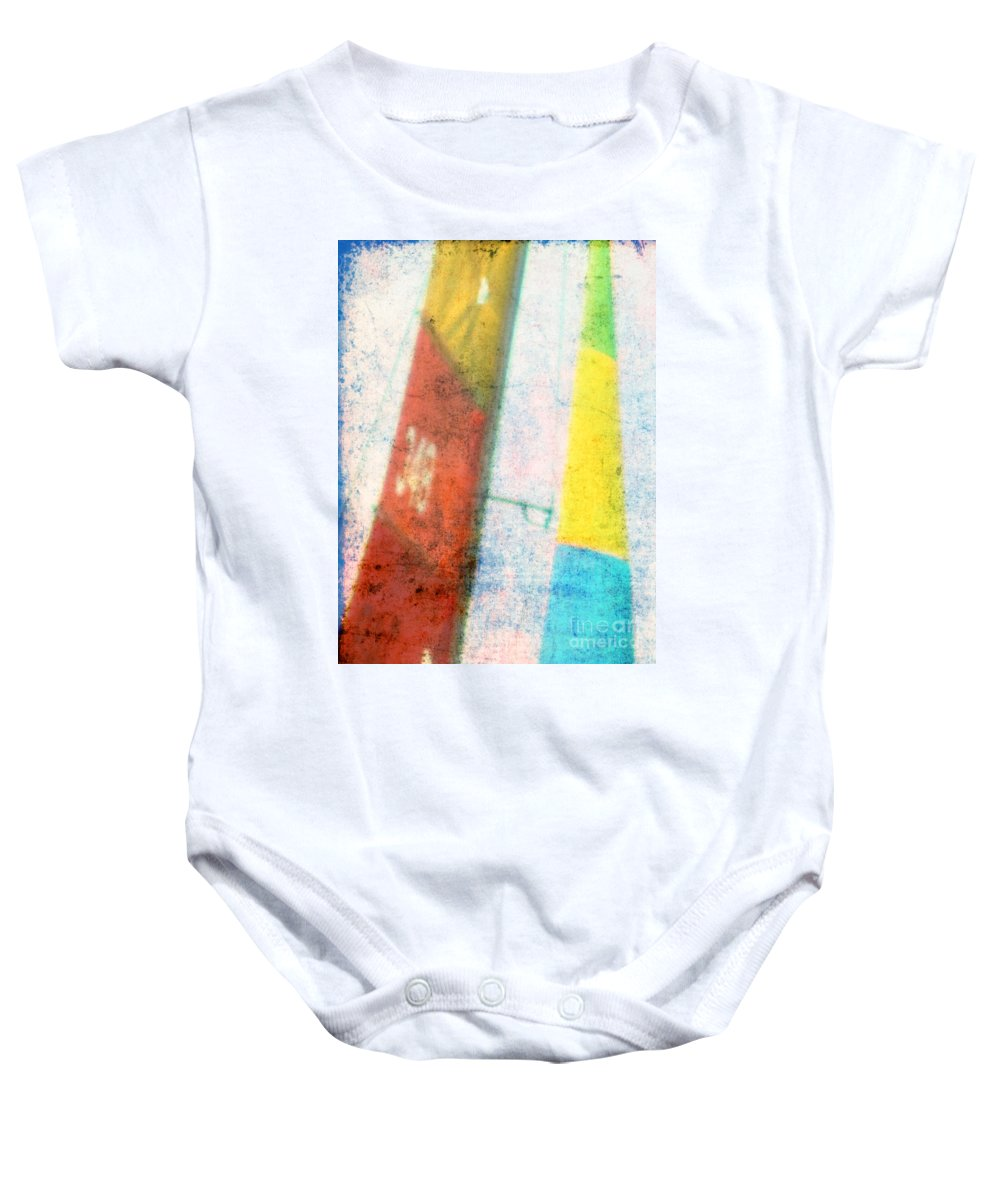 Sails Baby Onesie featuring the photograph Colored Sailing by Susanne Van Hulst