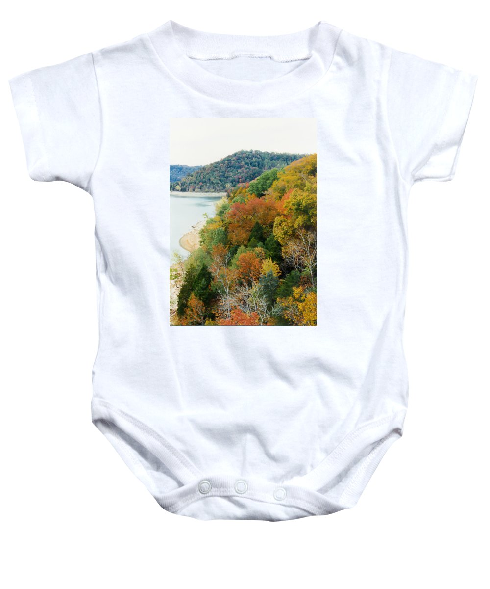 Tennessee Baby Onesie featuring the photograph Colors Of A Tennessee Fall by Debbie Karnes