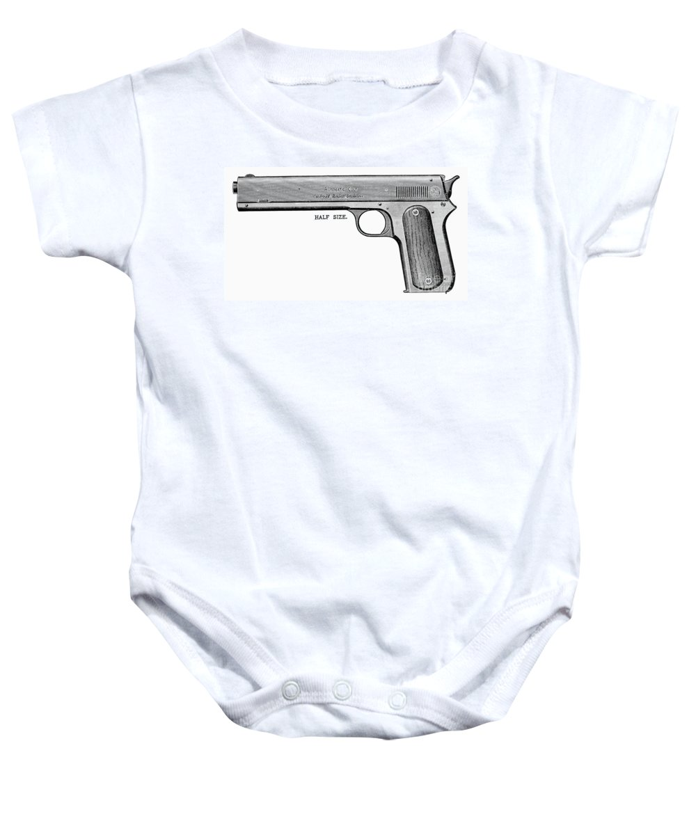 20th Century Baby Onesie featuring the photograph Colt Automatic Pistol by Granger