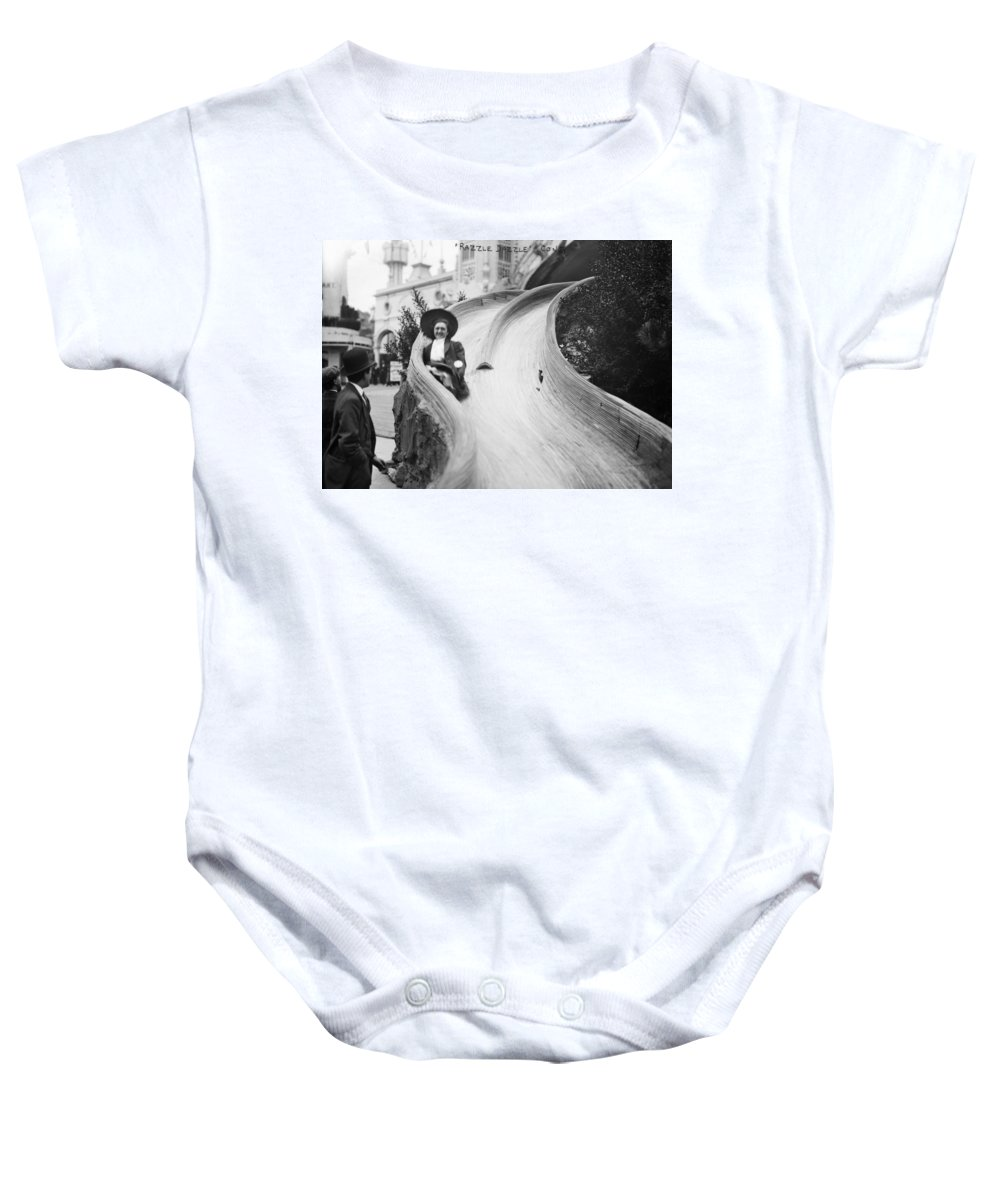 20th Century Baby Onesie featuring the photograph Coney Island: Slide by Granger