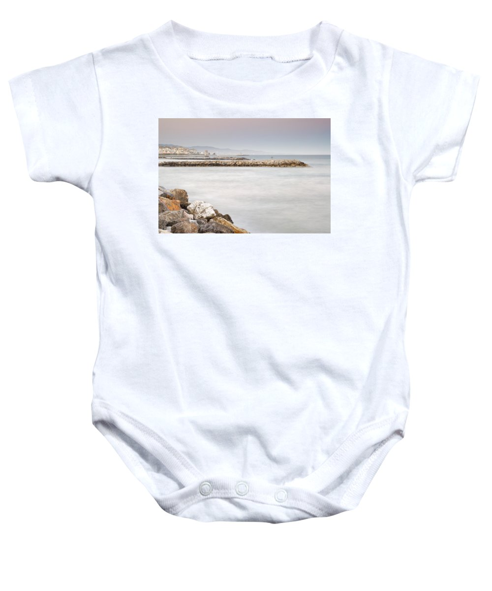 Seascape Baby Onesie featuring the photograph Banus Port by Guido Montanes Castillo
