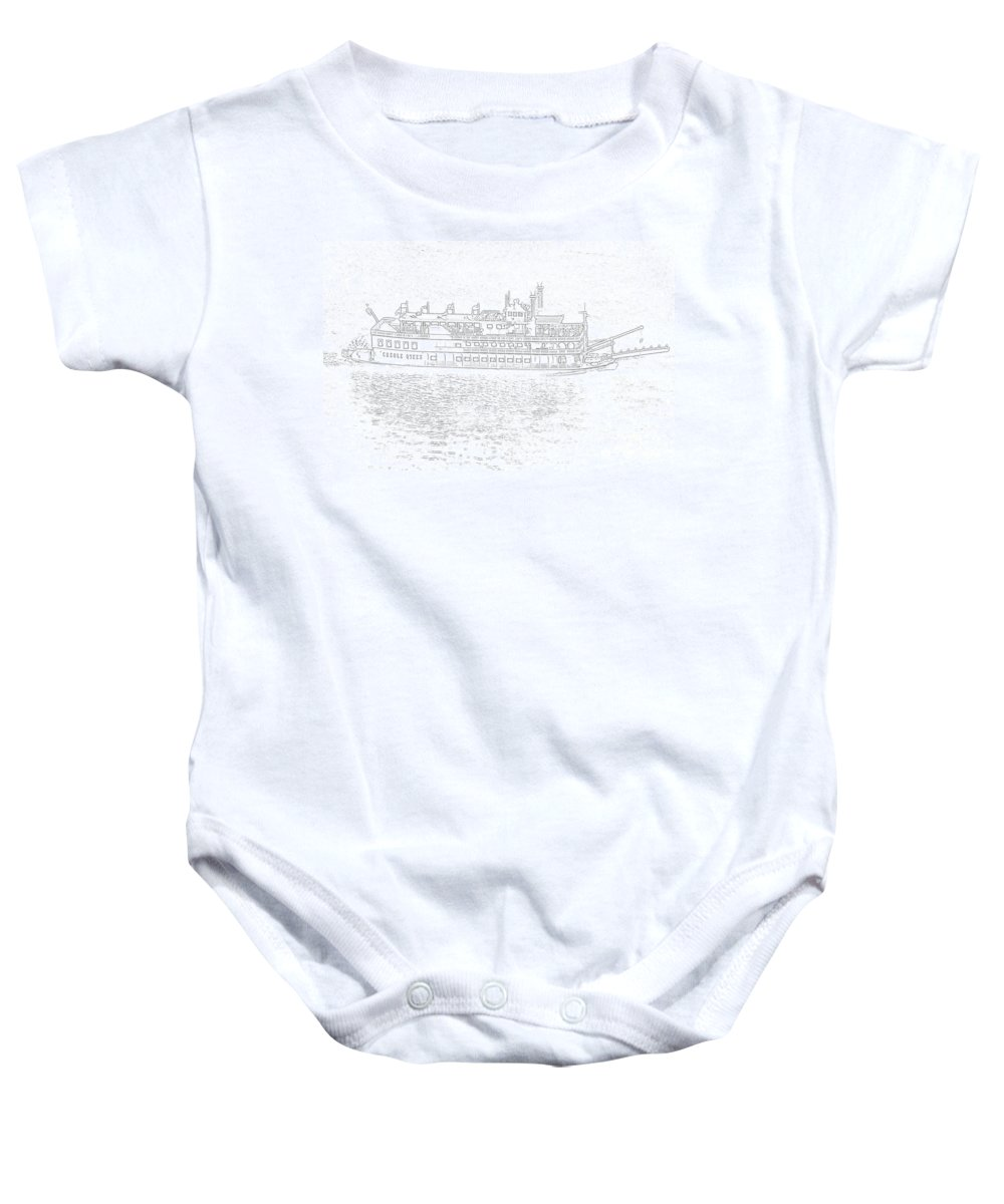 Ship Baby Onesie featuring the photograph Creole Queen Sketch by Jim Chamberlain