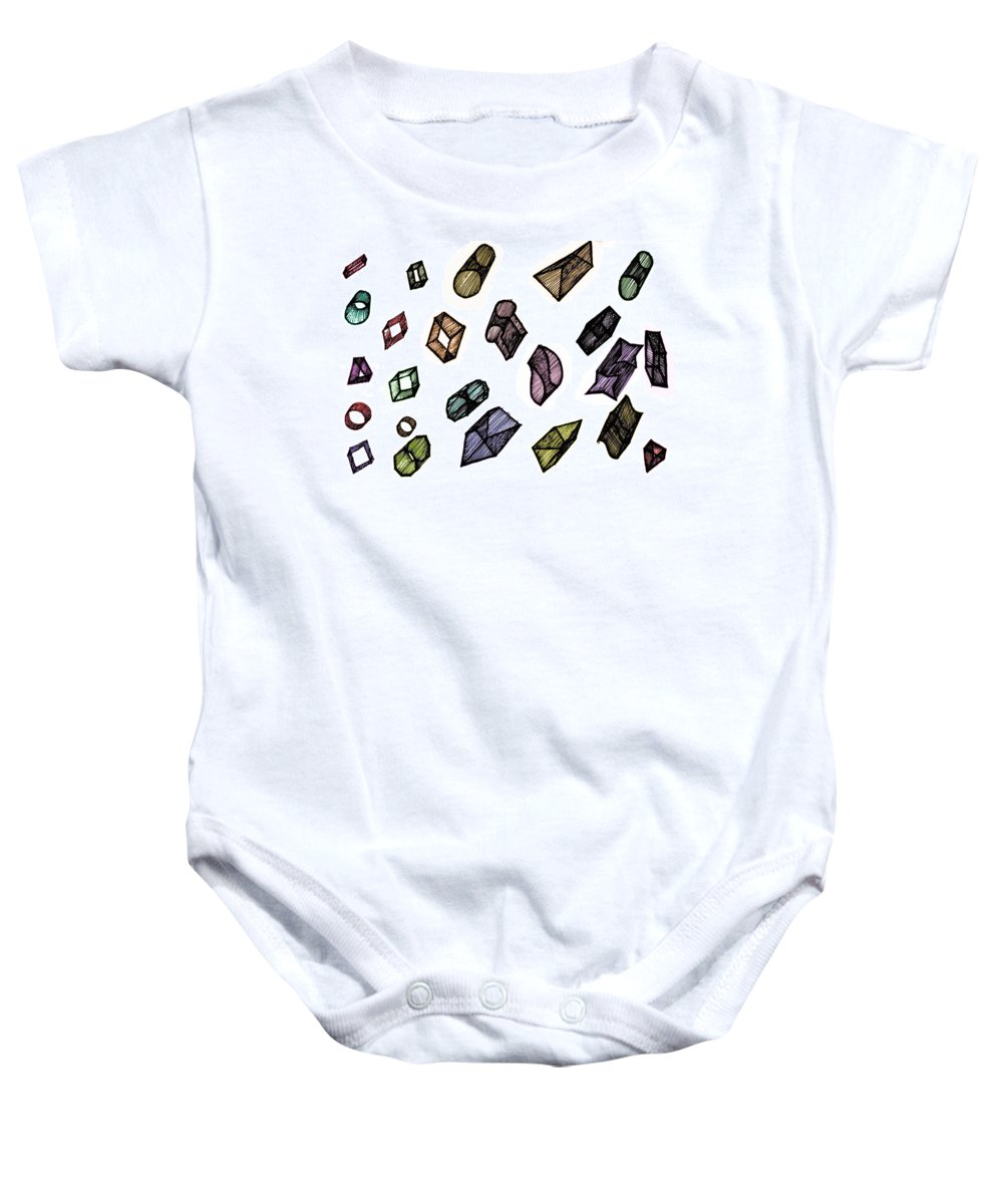 Digital Art Baby Onesie featuring the digital art Cubical Thoughts by Sumit Mehndiratta