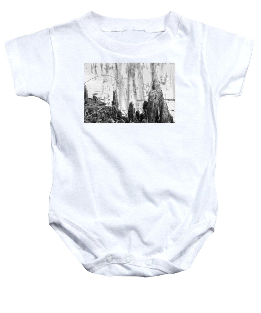 Cypress Baby Onesie featuring the photograph Cypress Knees by Jacob Klaus