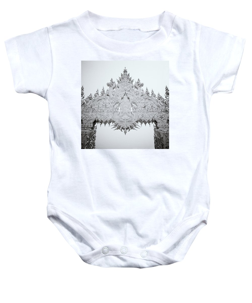 B&w Baby Onesie featuring the photograph Decadence by Shaun Higson