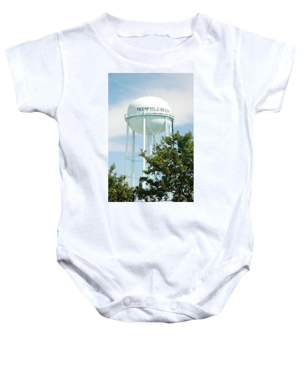 Blue Baby Onesie featuring the photograph Deerfield Beach Tower by Rob Hans