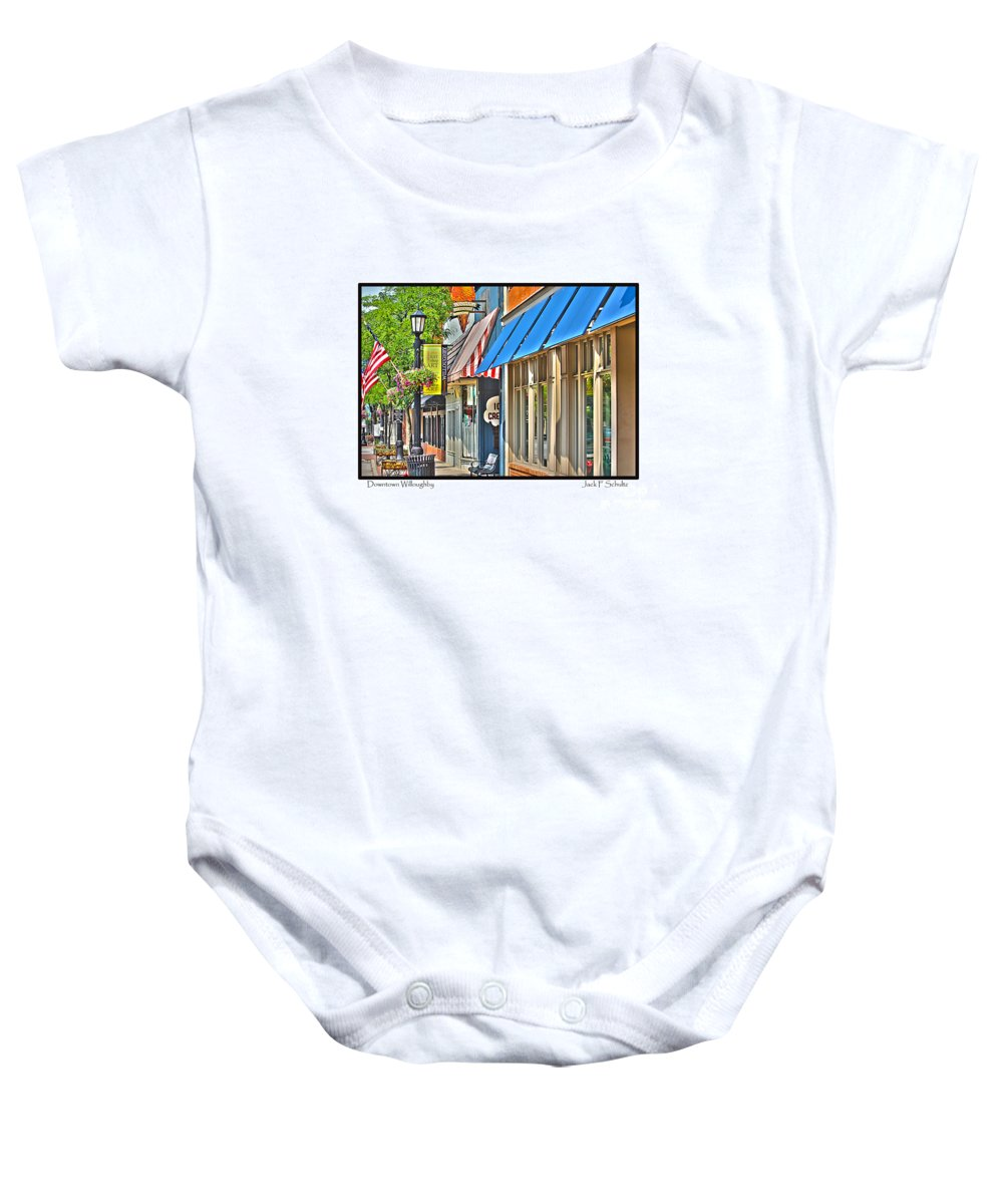 Baby Onesie featuring the photograph Downtown Willoughby by Jack Schultz