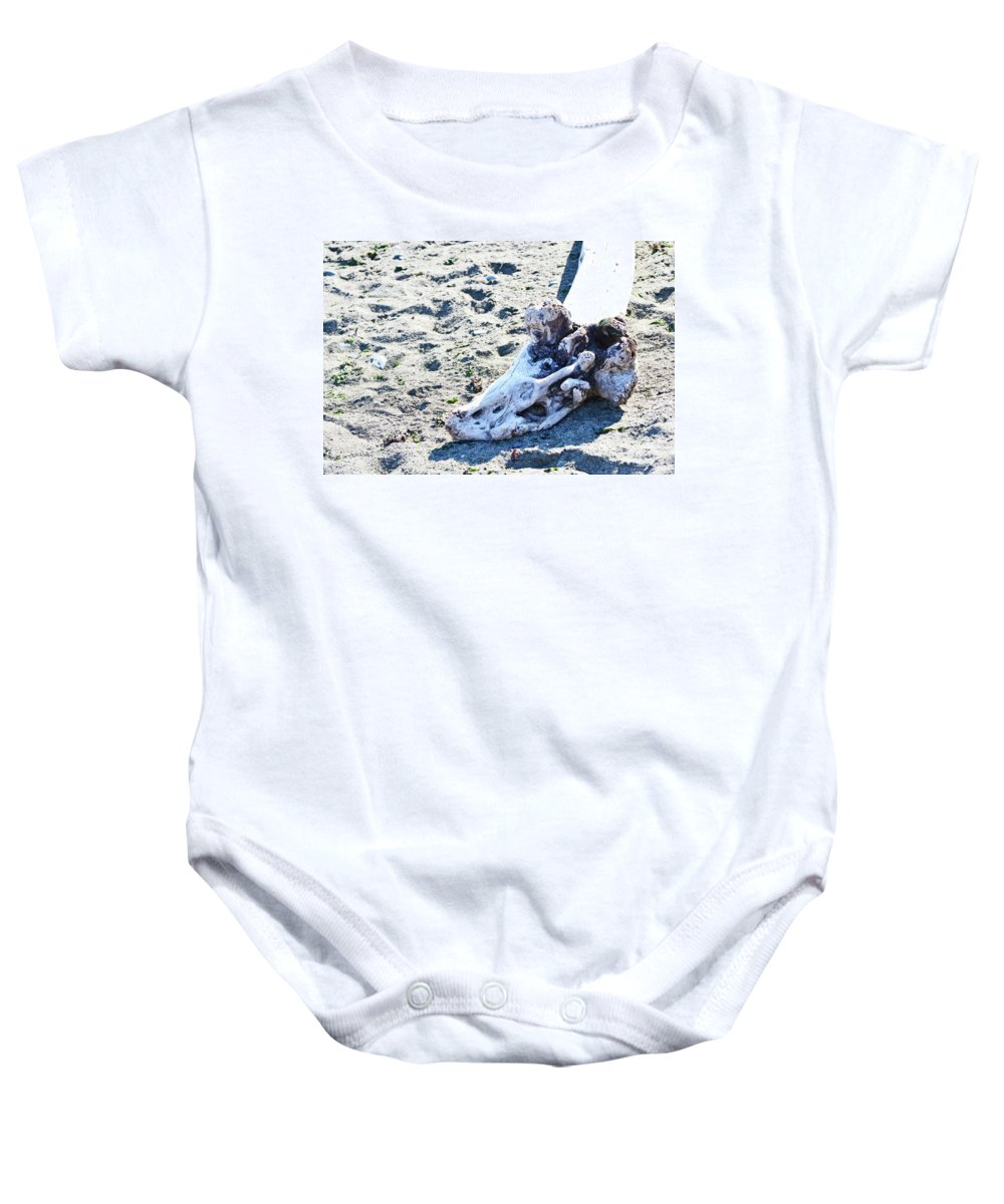 British Columbia Baby Onesie featuring the photograph Driftwood by Traci Cottingham