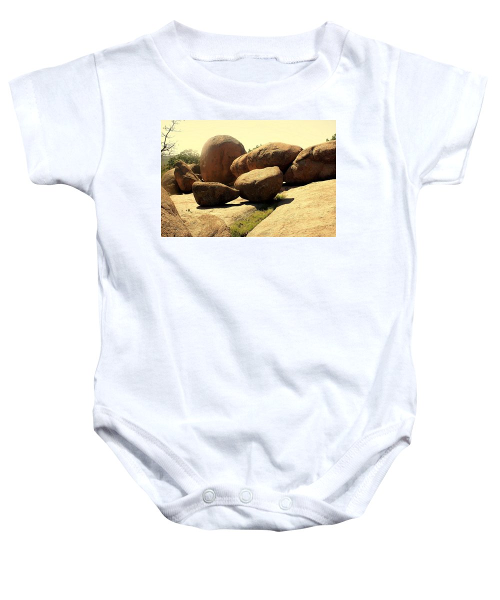 Elephant Rocks Baby Onesie featuring the photograph Elaphant Rocks 4 by Marty Koch