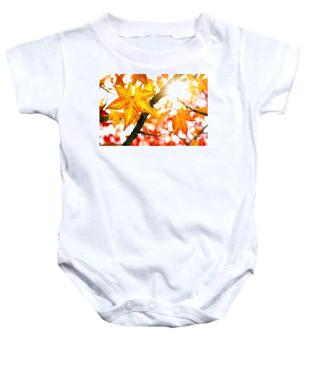 Autumn Baby Onesie featuring the photograph Fall Colors by Carlos Caetano