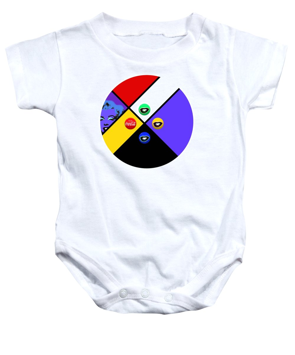 Andy Warhol Baby Onesie featuring the painting Farewell My Lovely by Charles Stuart
