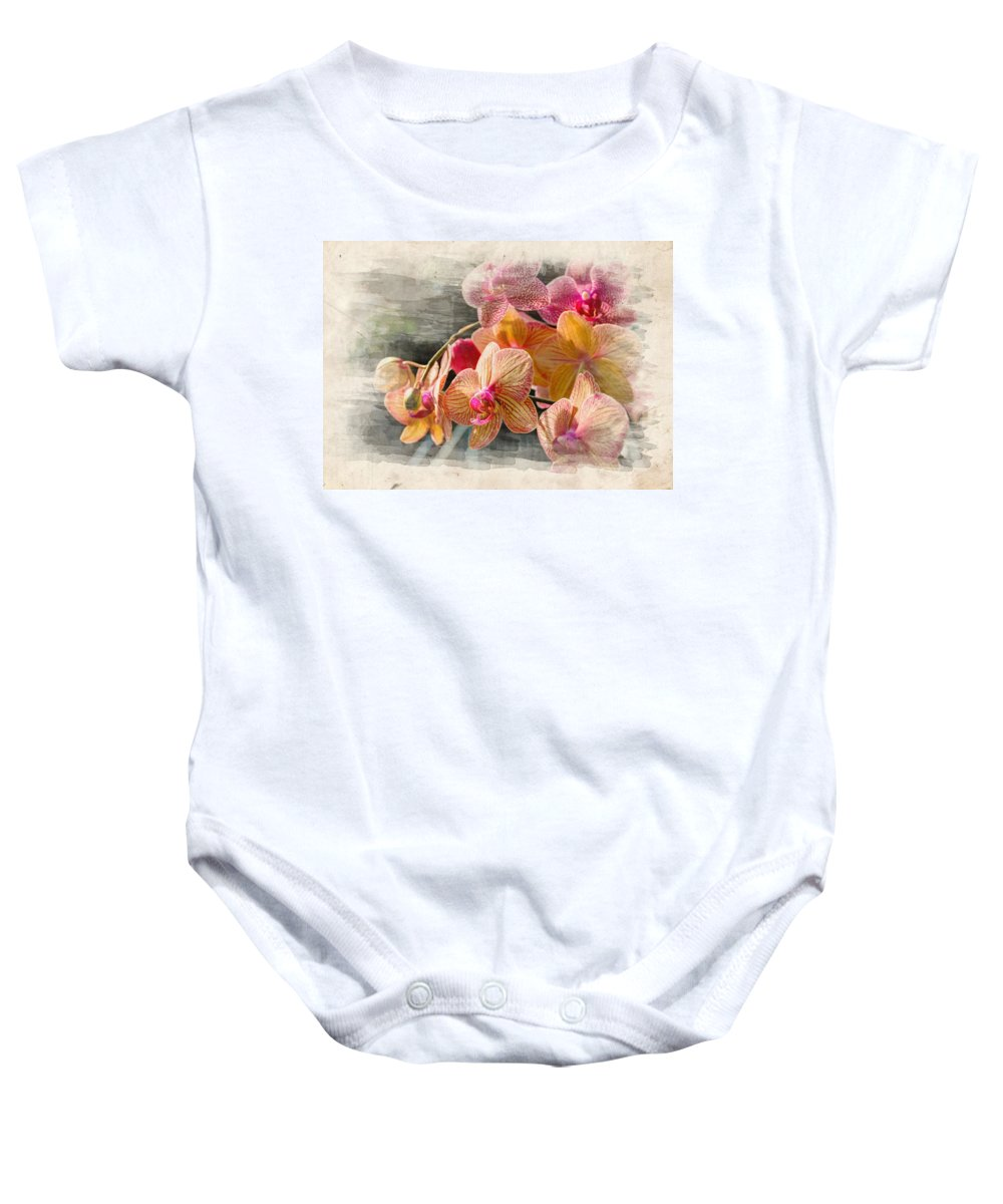 Beauty Baby Onesie featuring the photograph Floral Beauty by Ricky Barnard