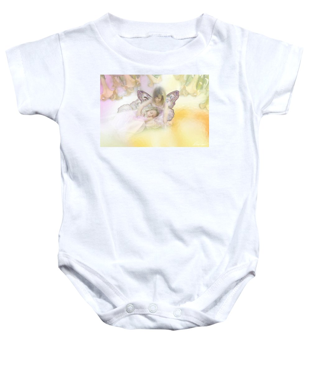 Fairies Baby Onesie featuring the photograph Flower Fairies by Diana Haronis
