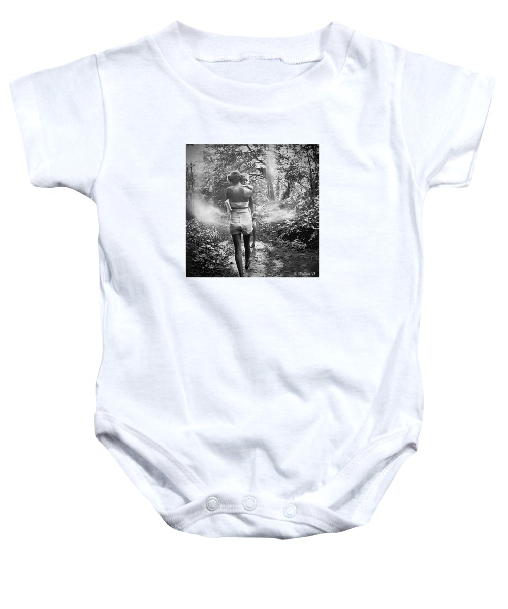 2d Baby Onesie featuring the photograph For Thou Art With Me by Brian Wallace