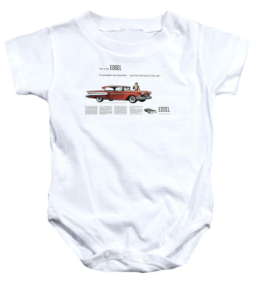 1957 Baby Onesie featuring the photograph Ford Cars: Edsel, 1957 by Granger