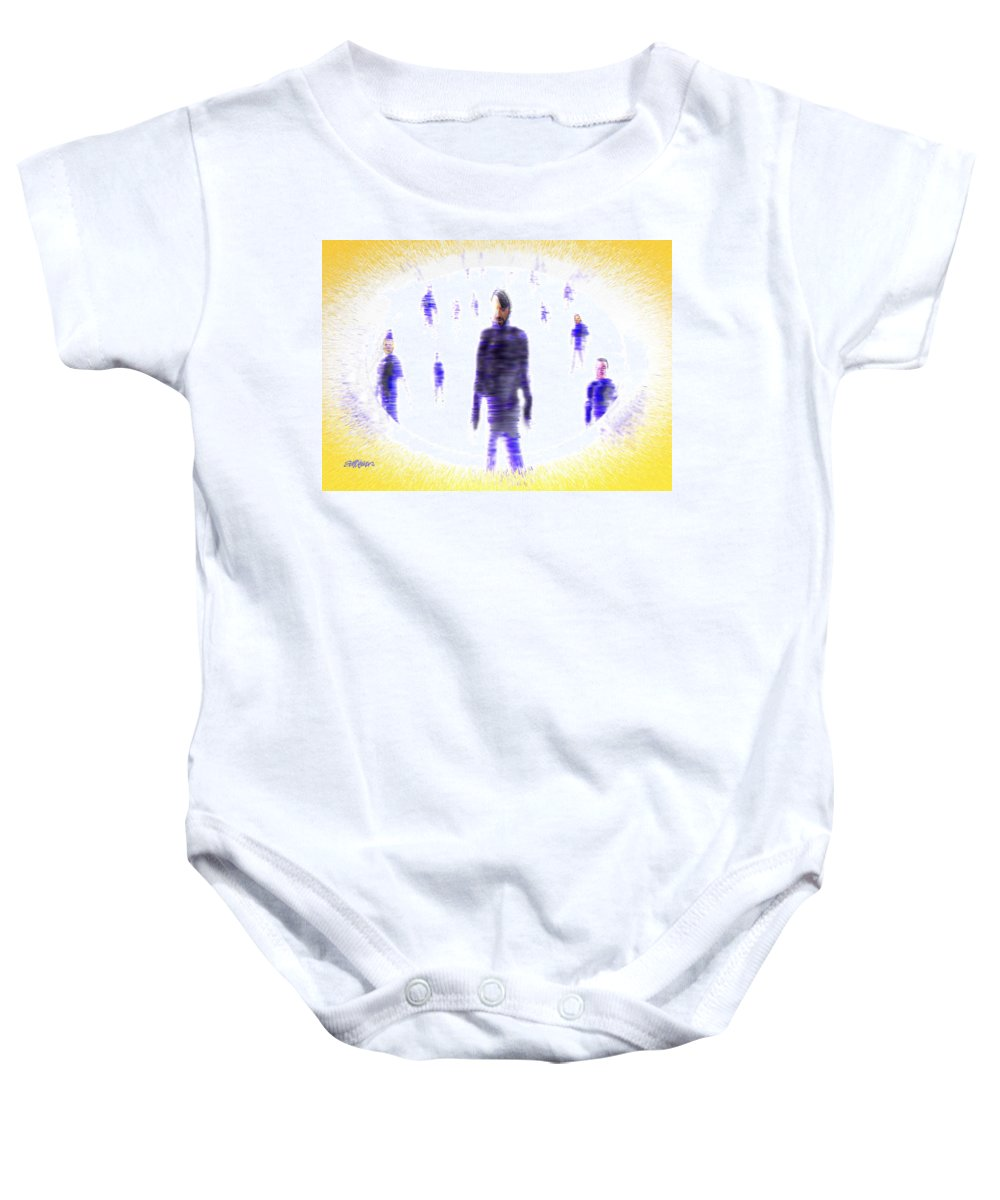 Glimpse Of Eternity Baby Onesie featuring the digital art Glimpse Of Eternity by Seth Weaver