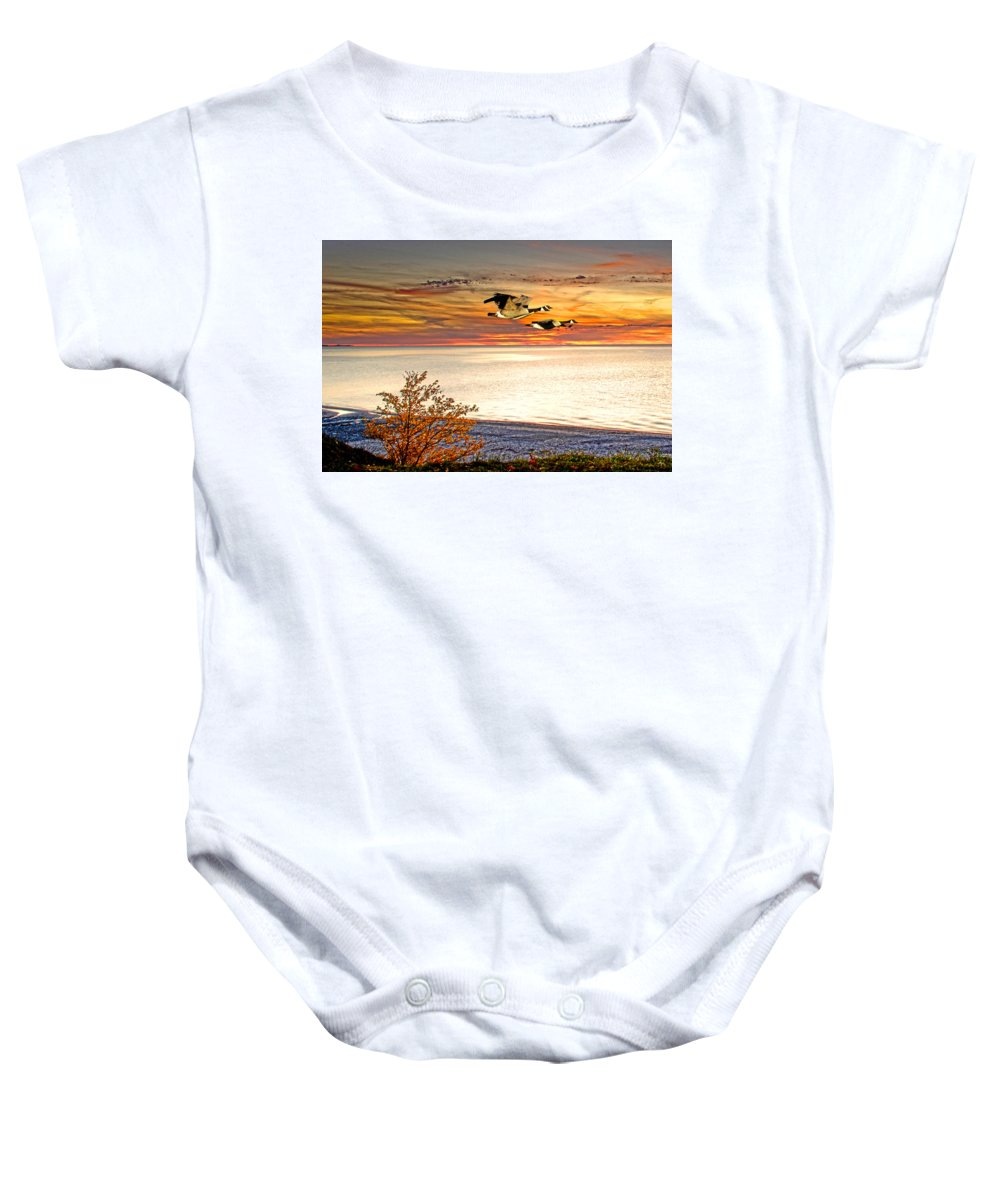 Sunset Photos Baby Onesie featuring the photograph Going For The Gold by Randall Branham