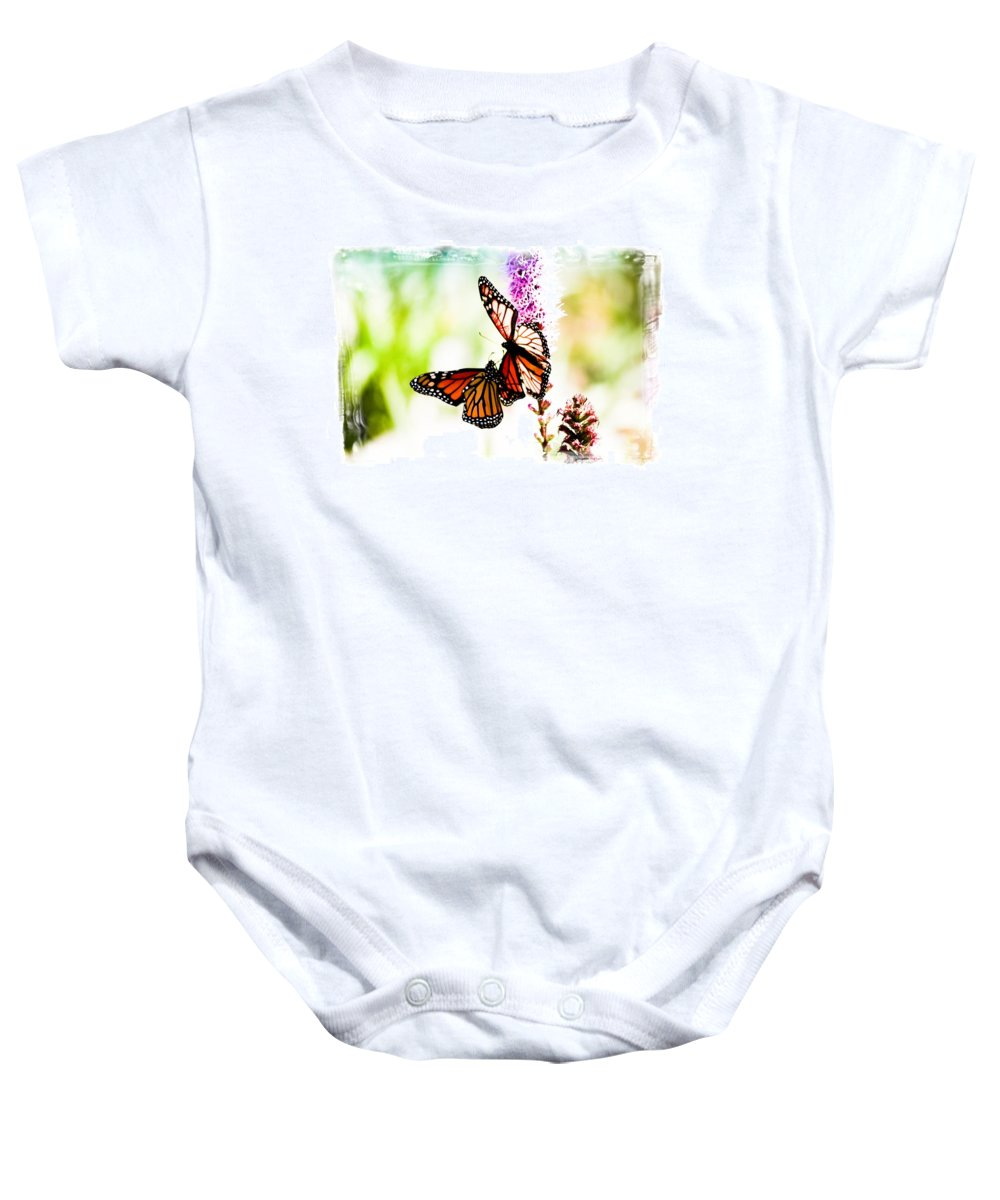 Monarch Baby Onesie featuring the photograph Grace by Sarah Wiggins