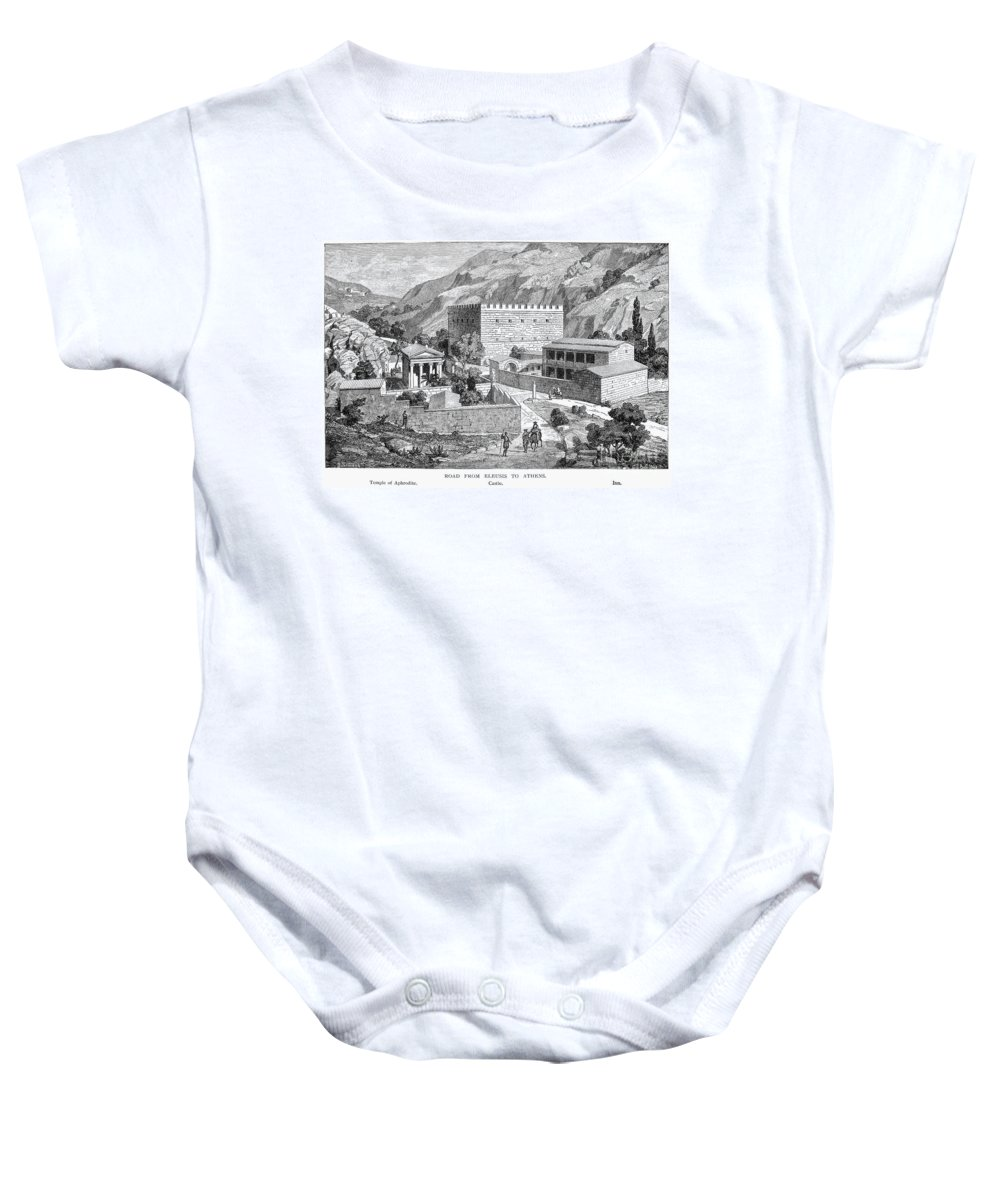 Ancient Baby Onesie featuring the photograph Greece: Road To Athens by Granger