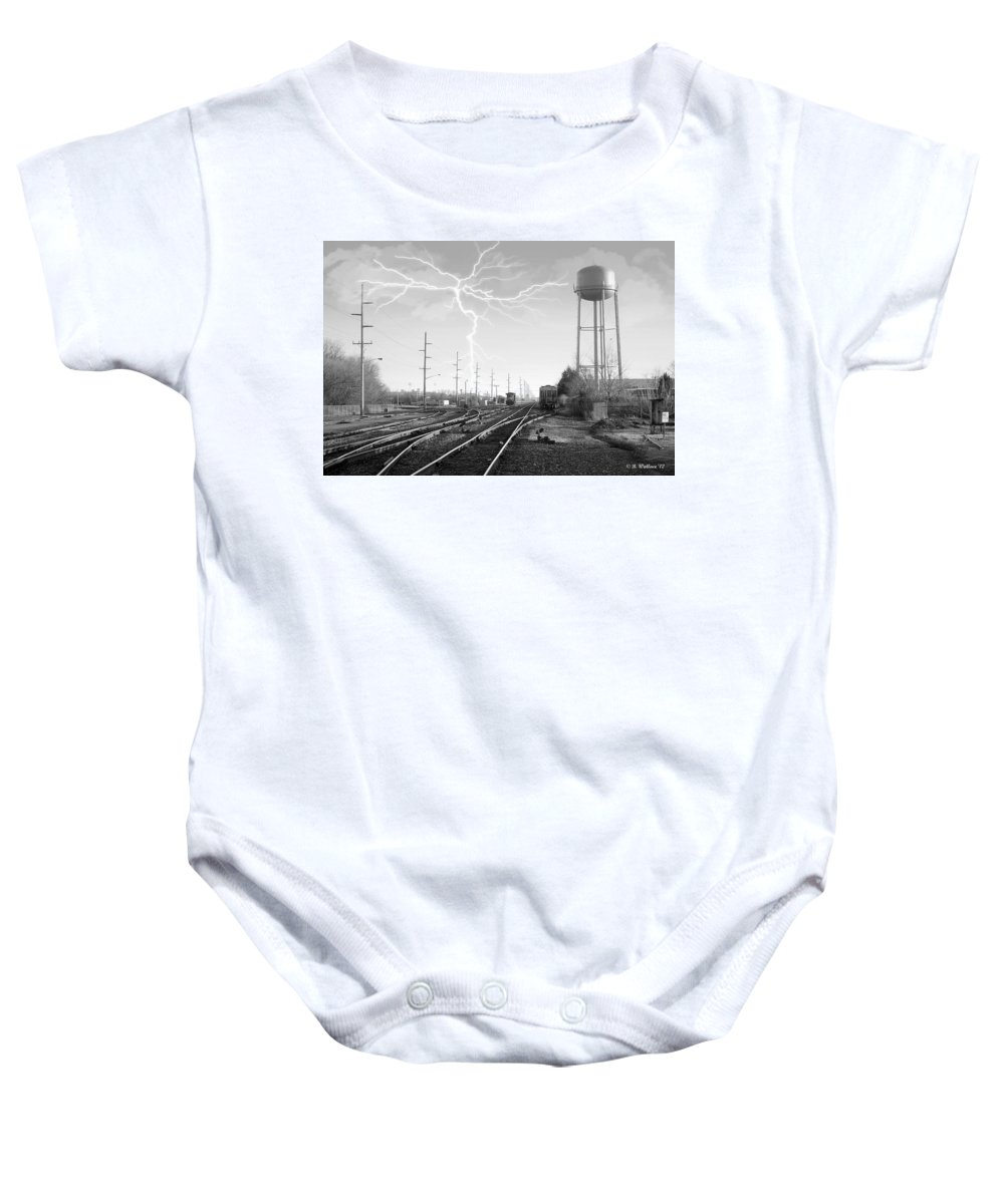 2d Baby Onesie featuring the photograph Harrington Rr by Brian Wallace