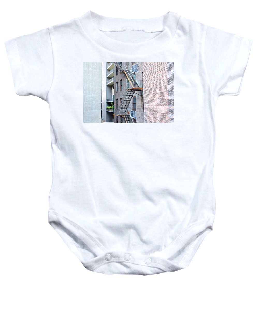 The High Line Baby Onesie featuring the photograph High Line Print 26 by Terry Wallace