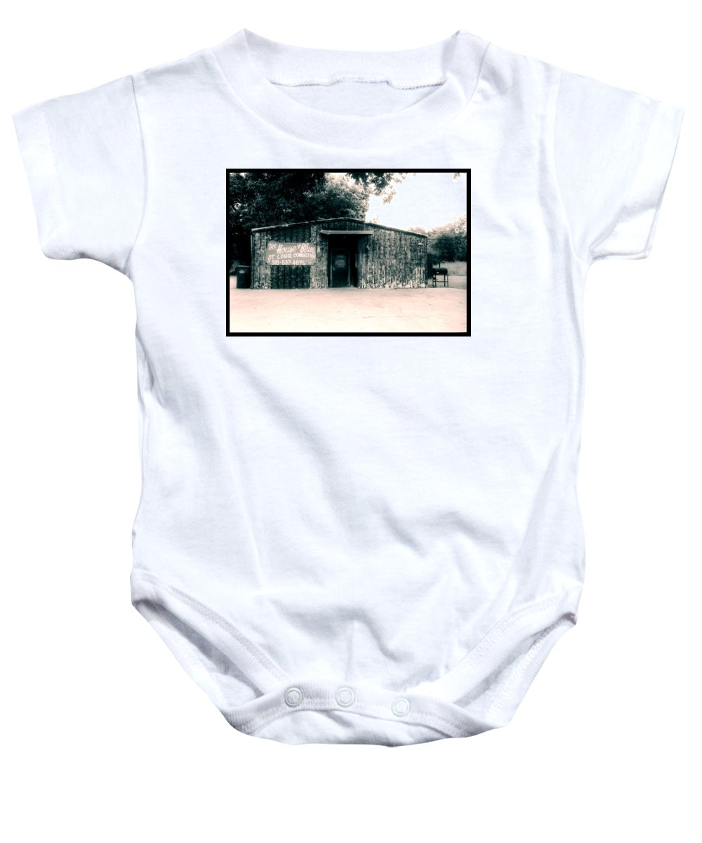 Louisiana Baby Onesie featuring the photograph House Of Blues by Doug Duffey