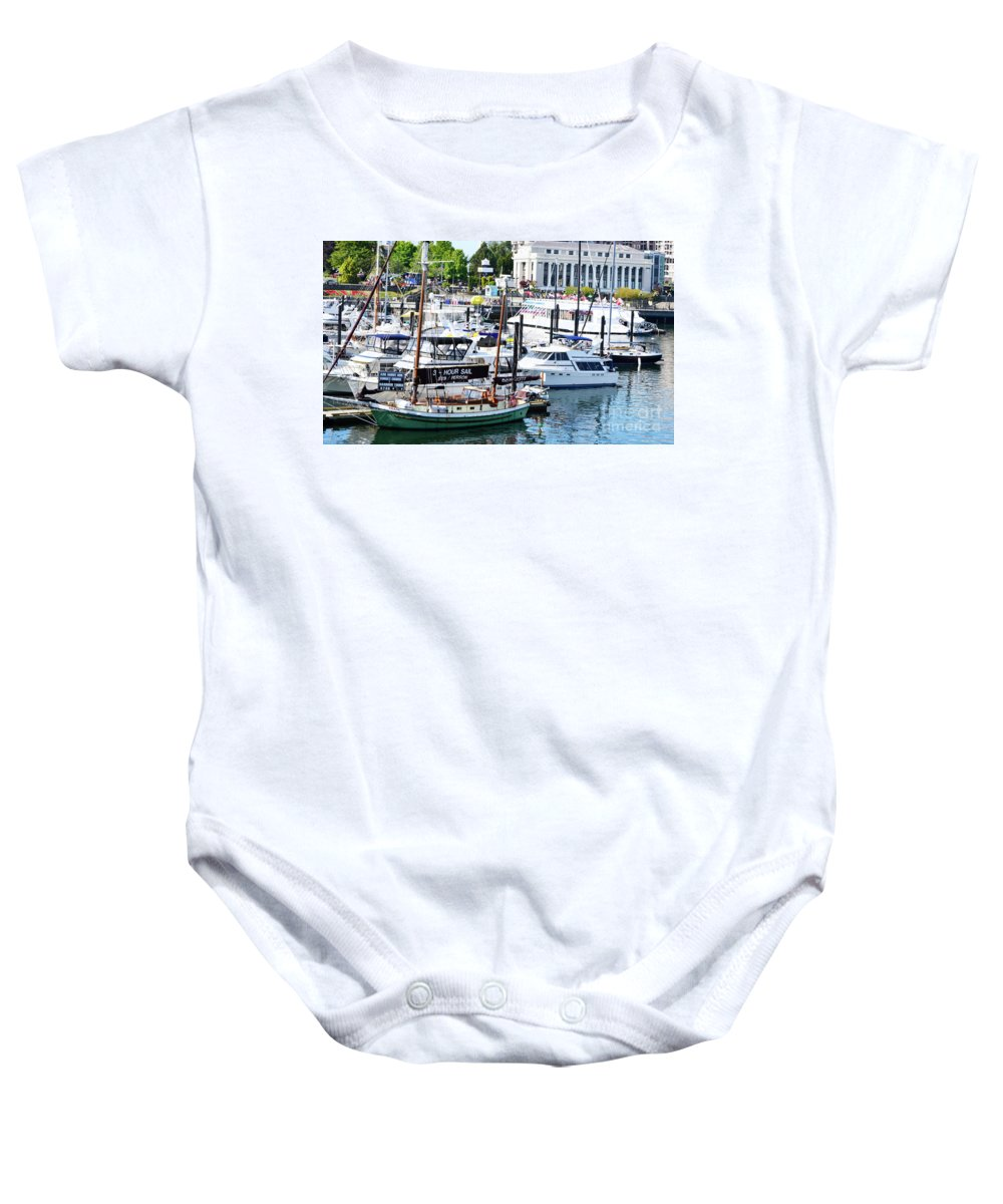 British Columbia Baby Onesie featuring the photograph Inner Harbour by Traci Cottingham