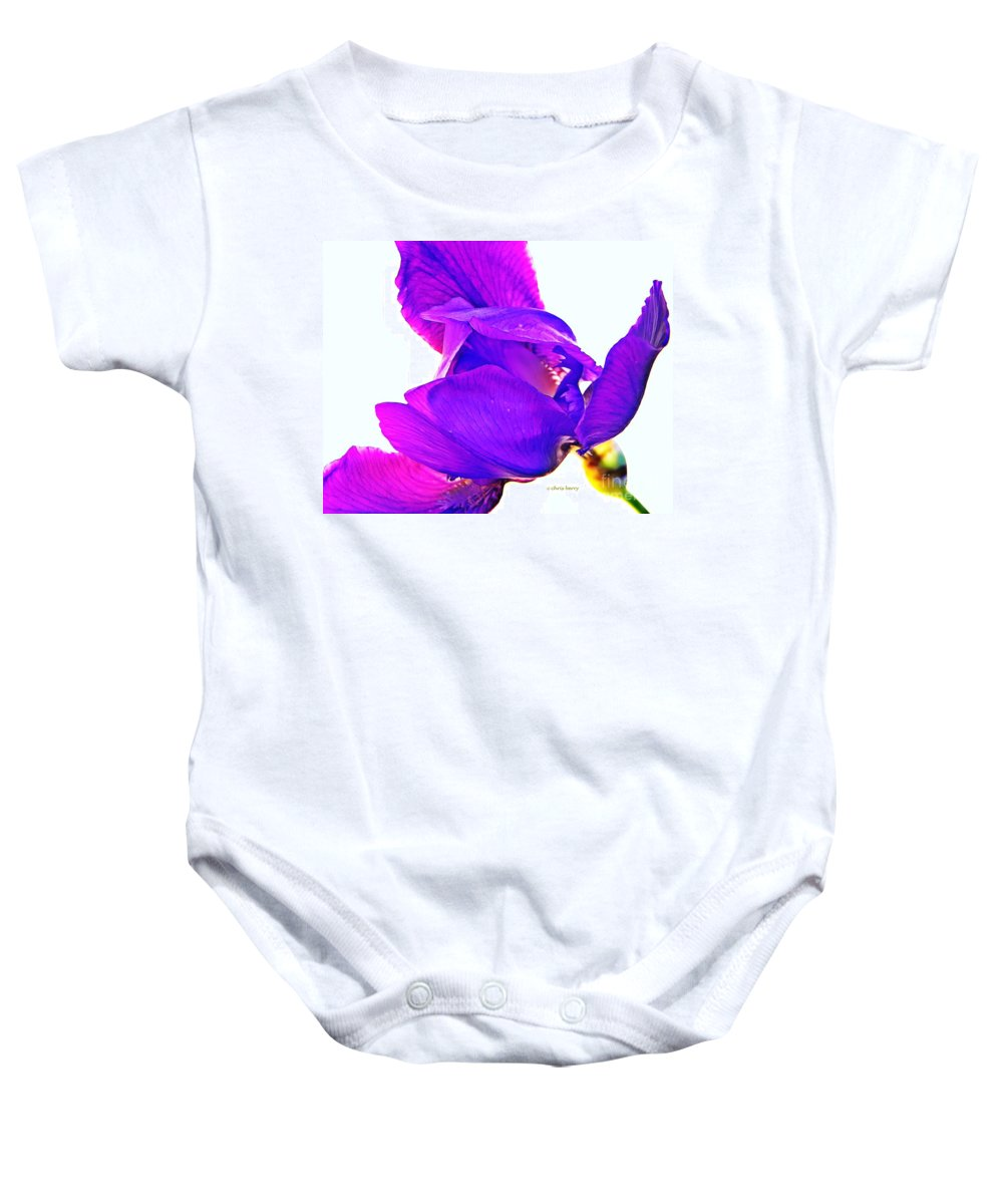 Nature Baby Onesie featuring the photograph Iris Surprise by Chris Berry