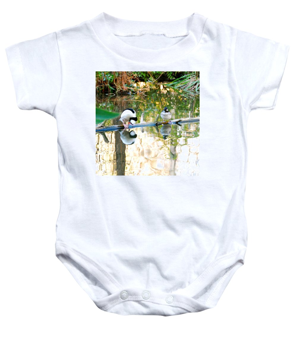 Landscape Photo Baby Onesie featuring the photograph Is That Me by Peggy Franz