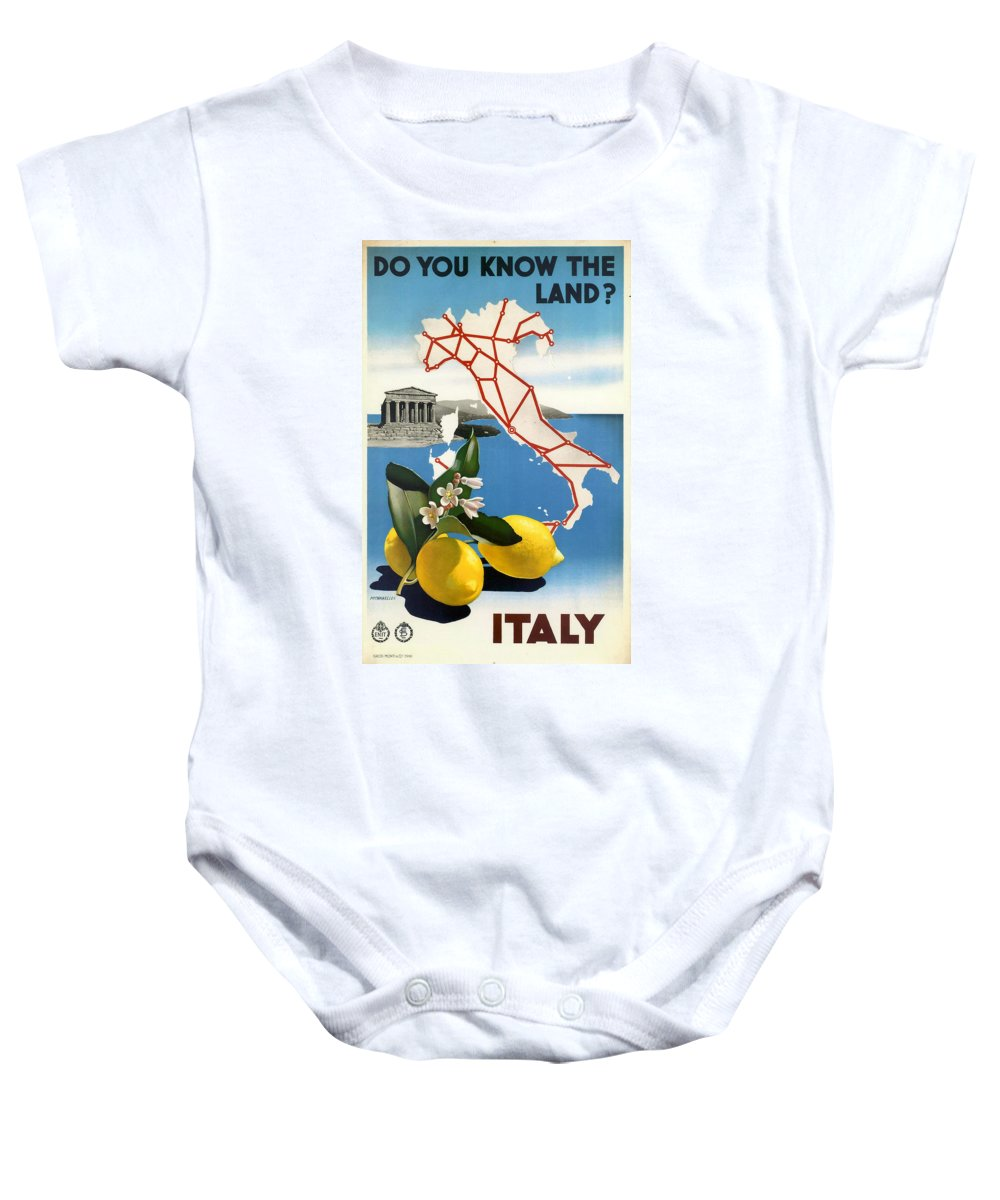 Italy Baby Onesie featuring the digital art Italy by Georgia Fowler