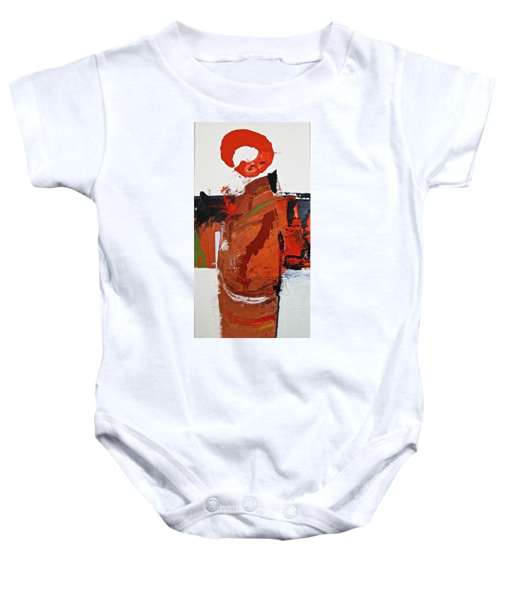 Abstract Painting Baby Onesie featuring the painting Kimono Lisa by Cliff Spohn