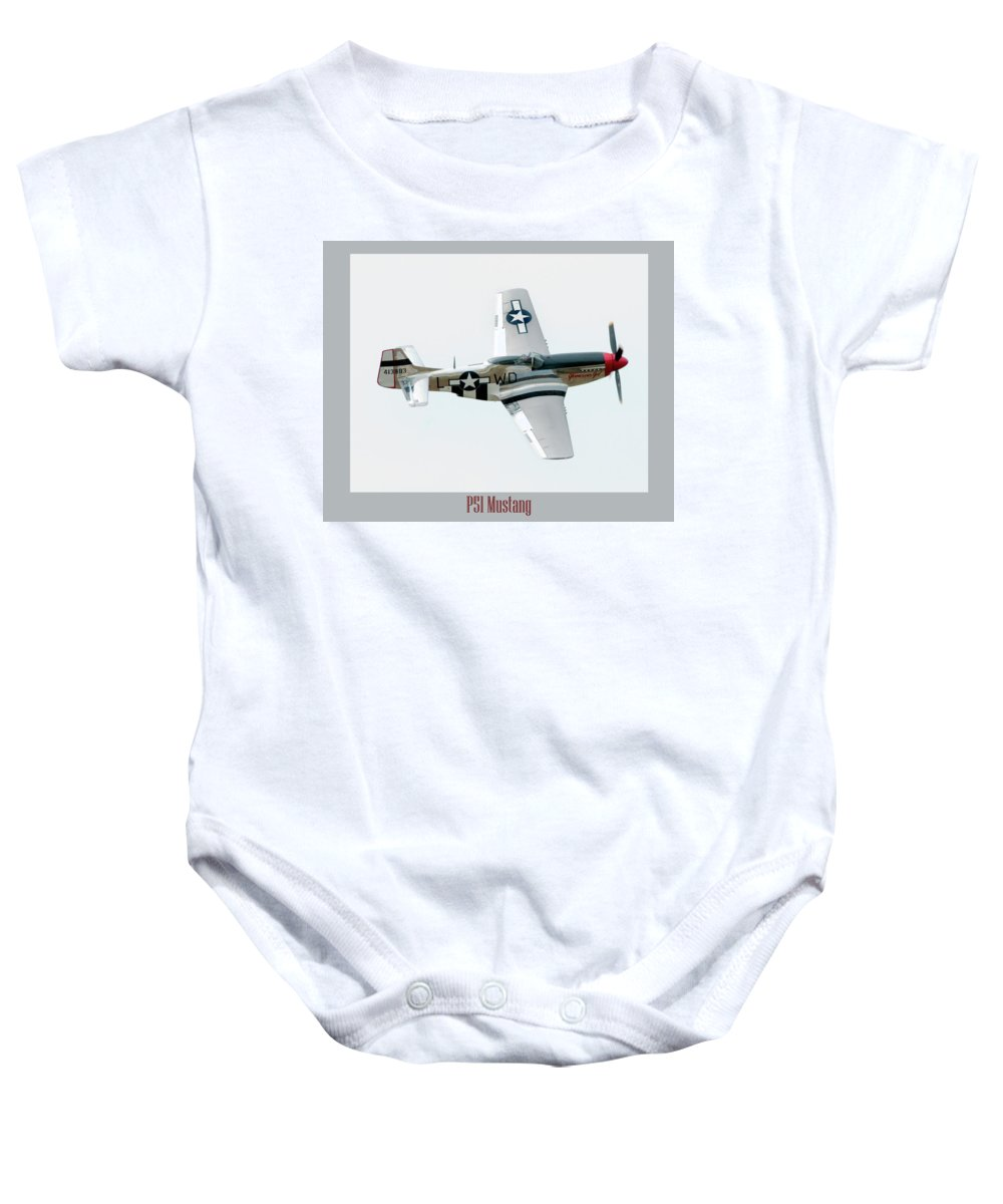 Airshow Baby Onesie featuring the photograph King Of The Skies by Greg Fortier