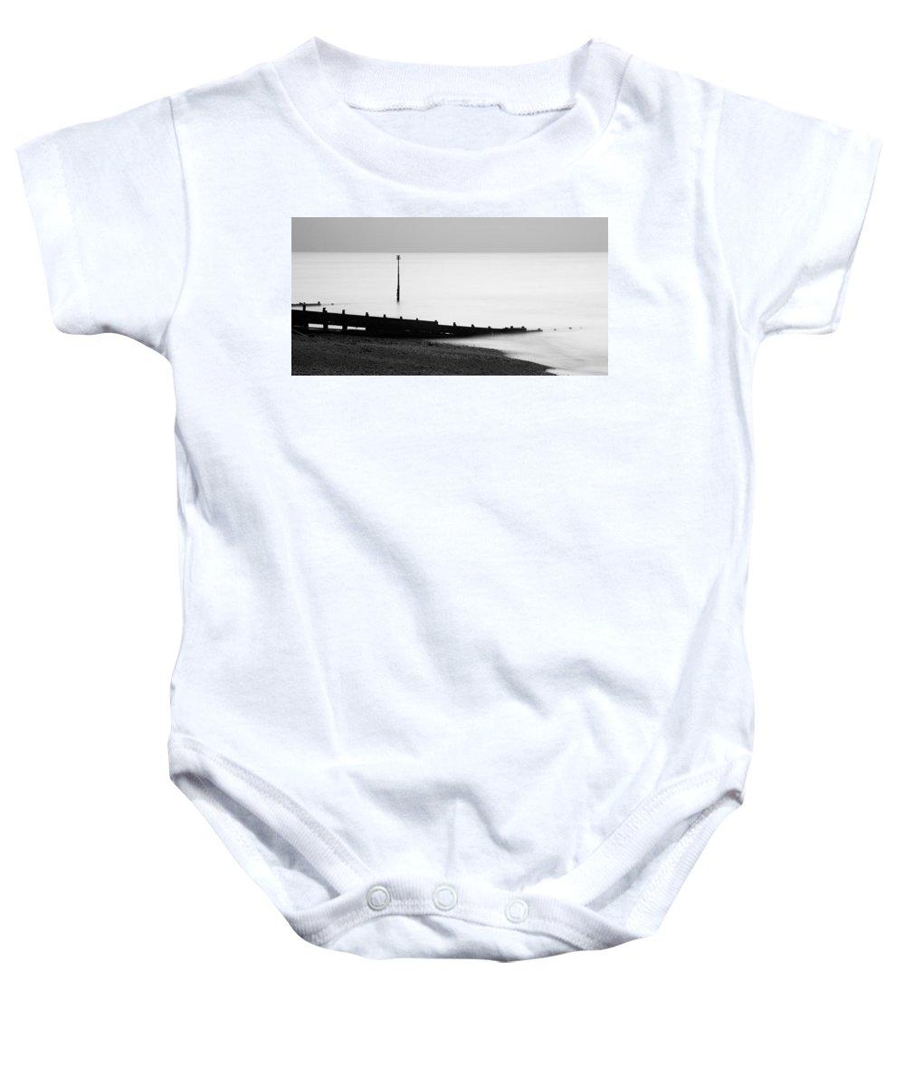 Kingsdown Baby Onesie featuring the photograph Kingsdown Beach by Ian Middleton
