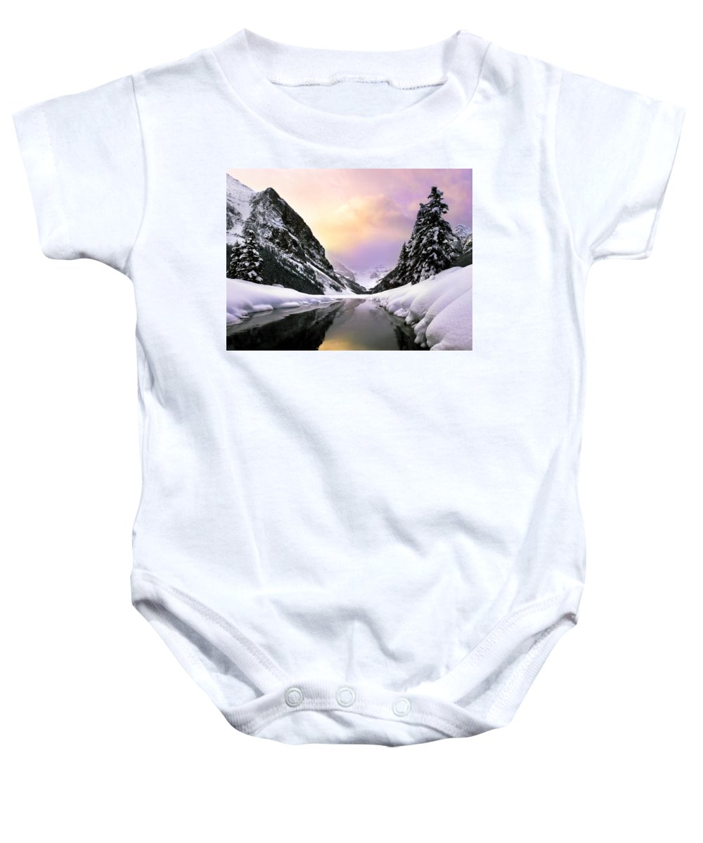 Banff National Park Baby Onesie featuring the photograph Lake Louise by Chris Knorr