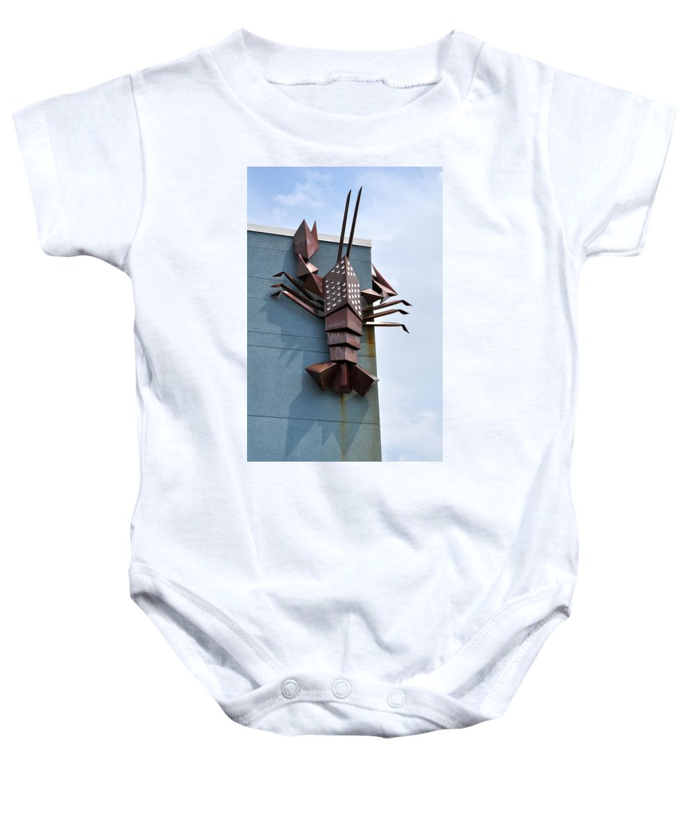 Asbury Park Baby Onesie featuring the photograph Langusta Lobster by Catherine Conroy