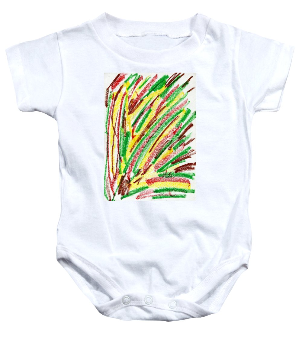 Lost Emotion Baby Onesie featuring the painting Lost Emotion by Taylor Webb