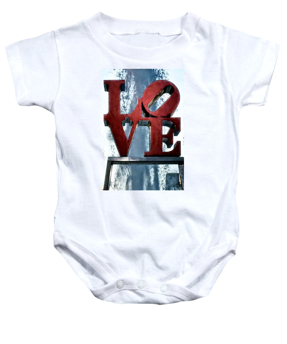 Love In The Afternoon Baby Onesie featuring the photograph Love In The Afternoon by Bill Cannon