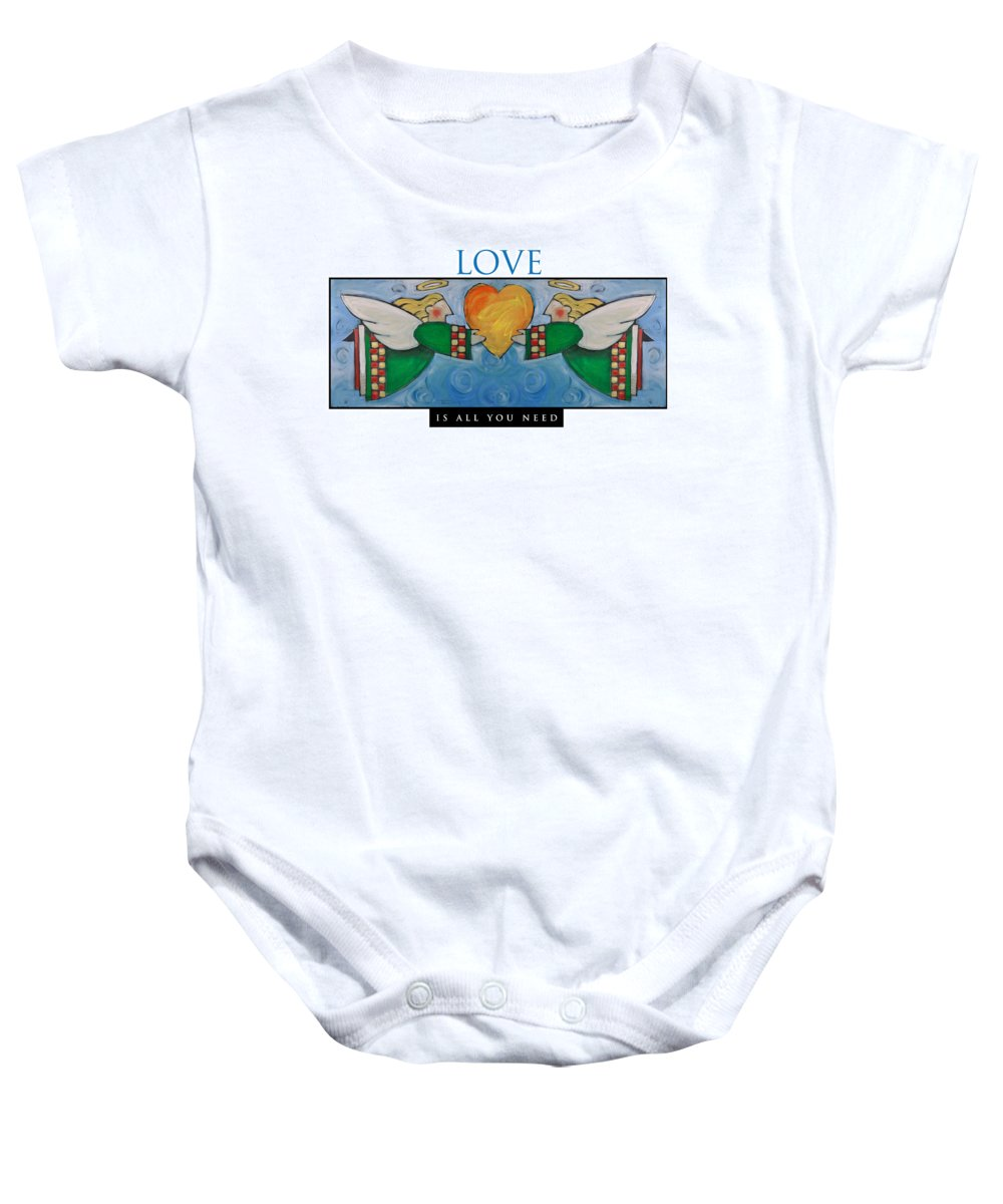 Angels Baby Onesie featuring the painting Love Is All You Need Poster by Tim Nyberg