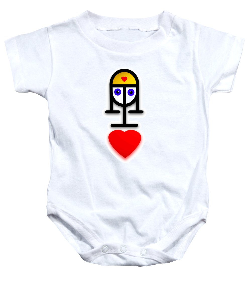 Love Baby Onesie featuring the painting Love U Kid by Charles Stuart