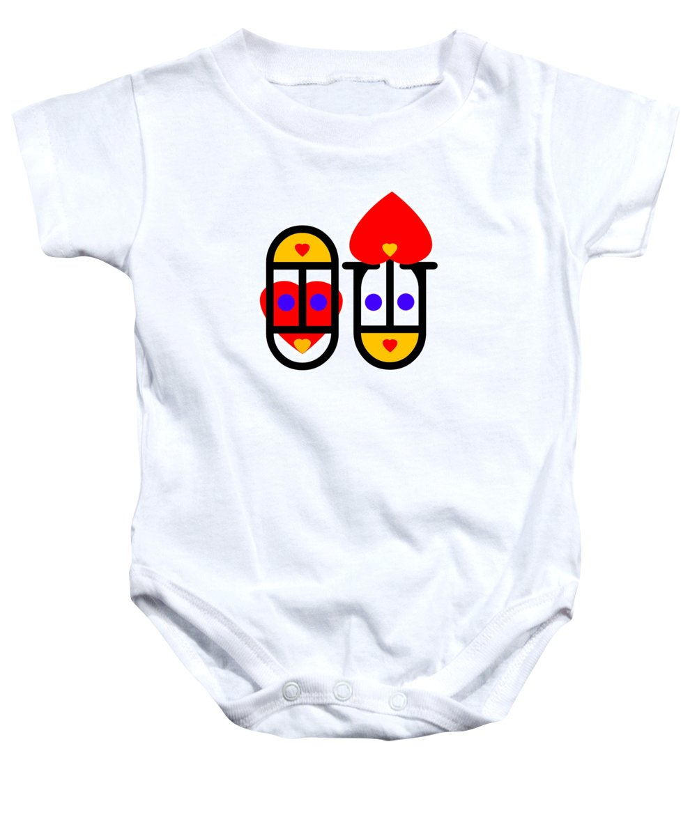 Love Baby Onesie featuring the painting Lovers by Charles Stuart