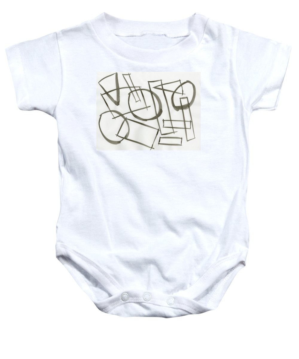Machine Model State Baby Onesie featuring the painting Machine Model State by Taylor Webb