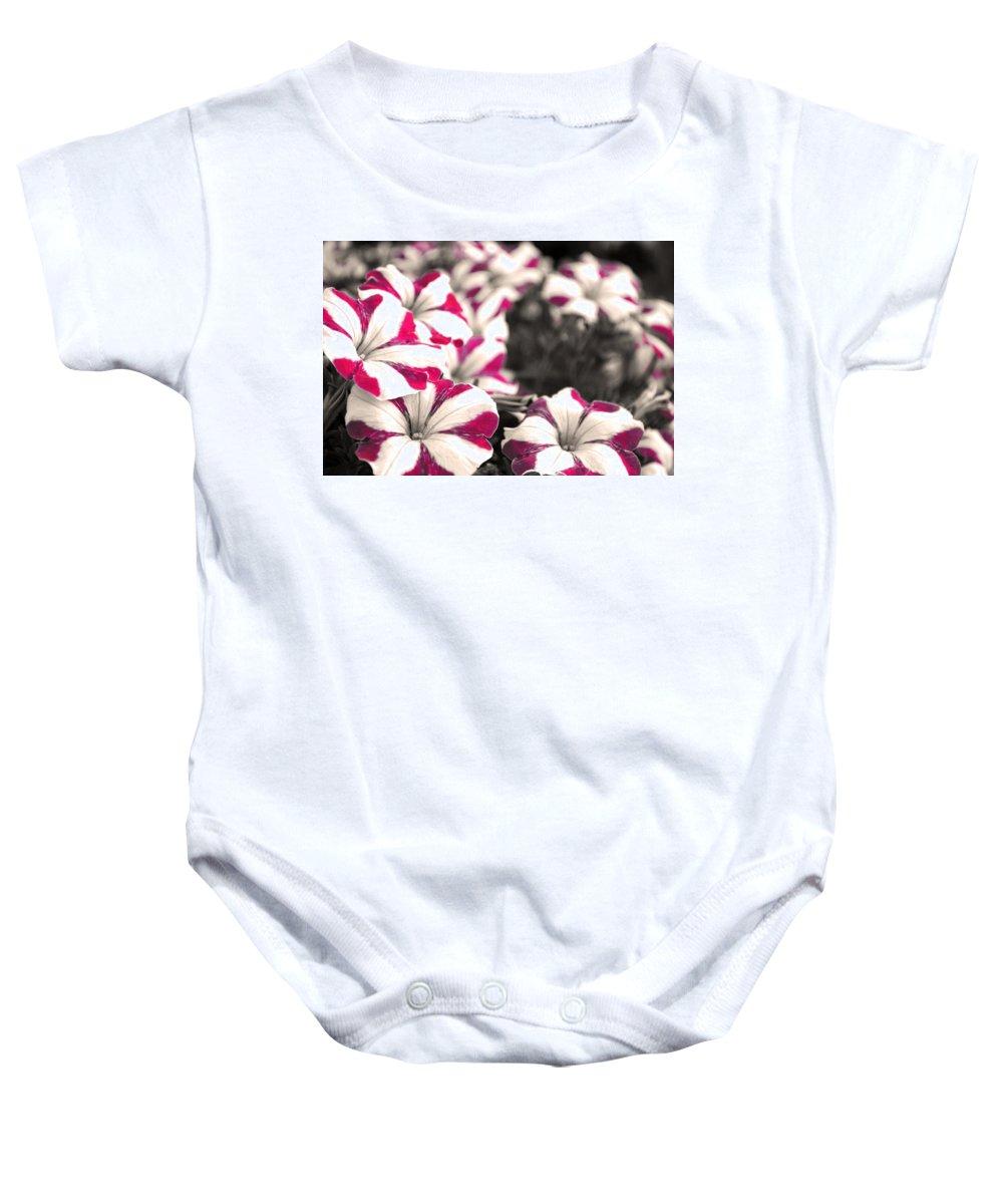 Magenta Flower Baby Onesie featuring the photograph Magenta Flowers by Sumit Mehndiratta