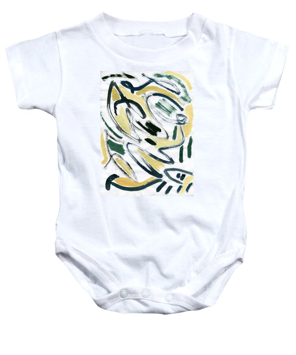 Medieval Dreams Baby Onesie featuring the painting Medieval Dreams by Taylor Webb