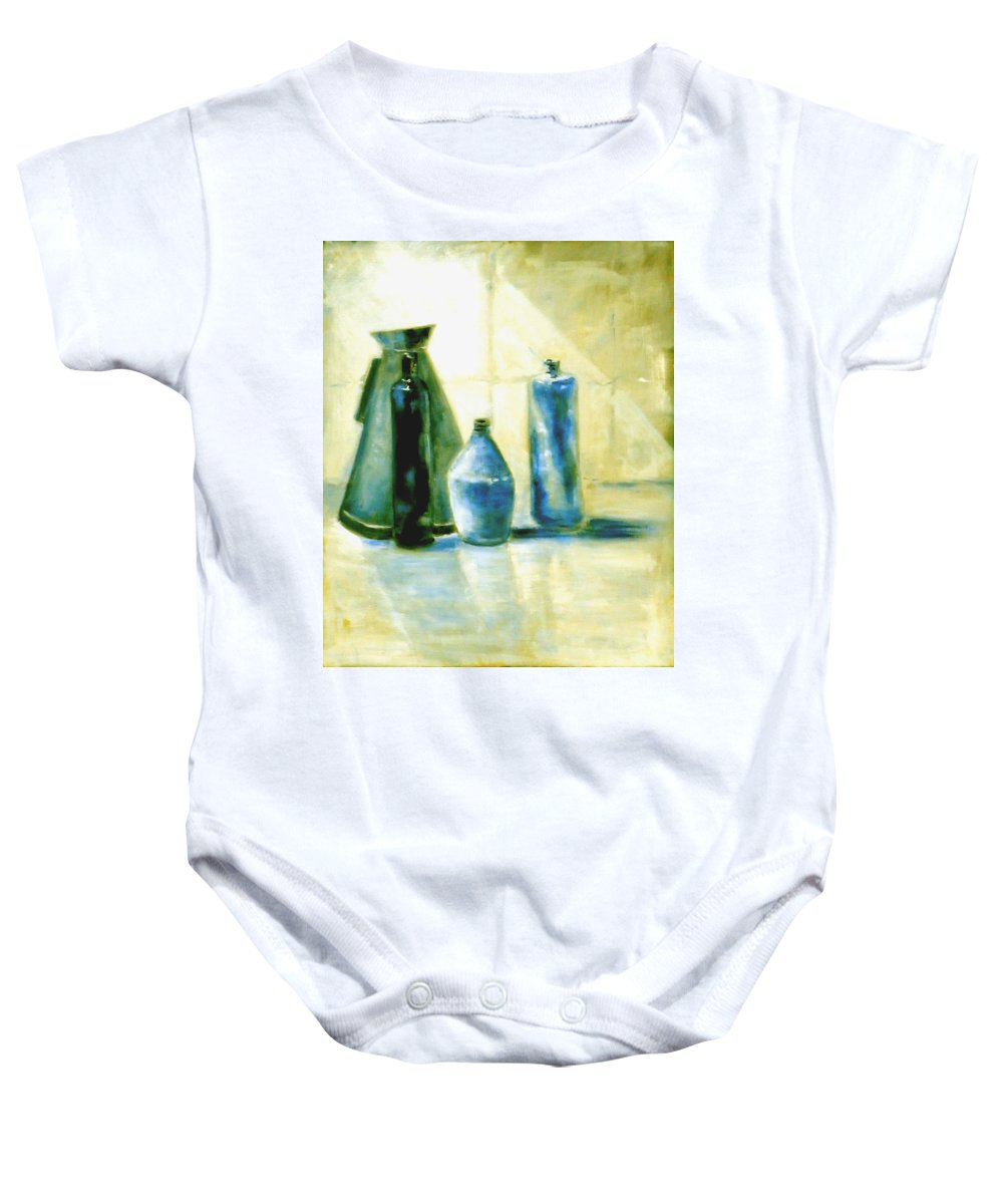 Australian Baby Onesie featuring the painting Morning After 1 by Giro Tavitian