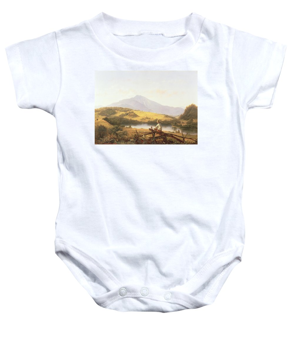 Mount Mansfield Baby Onesie featuring the painting Mount Mansfield by Jerome Thompson