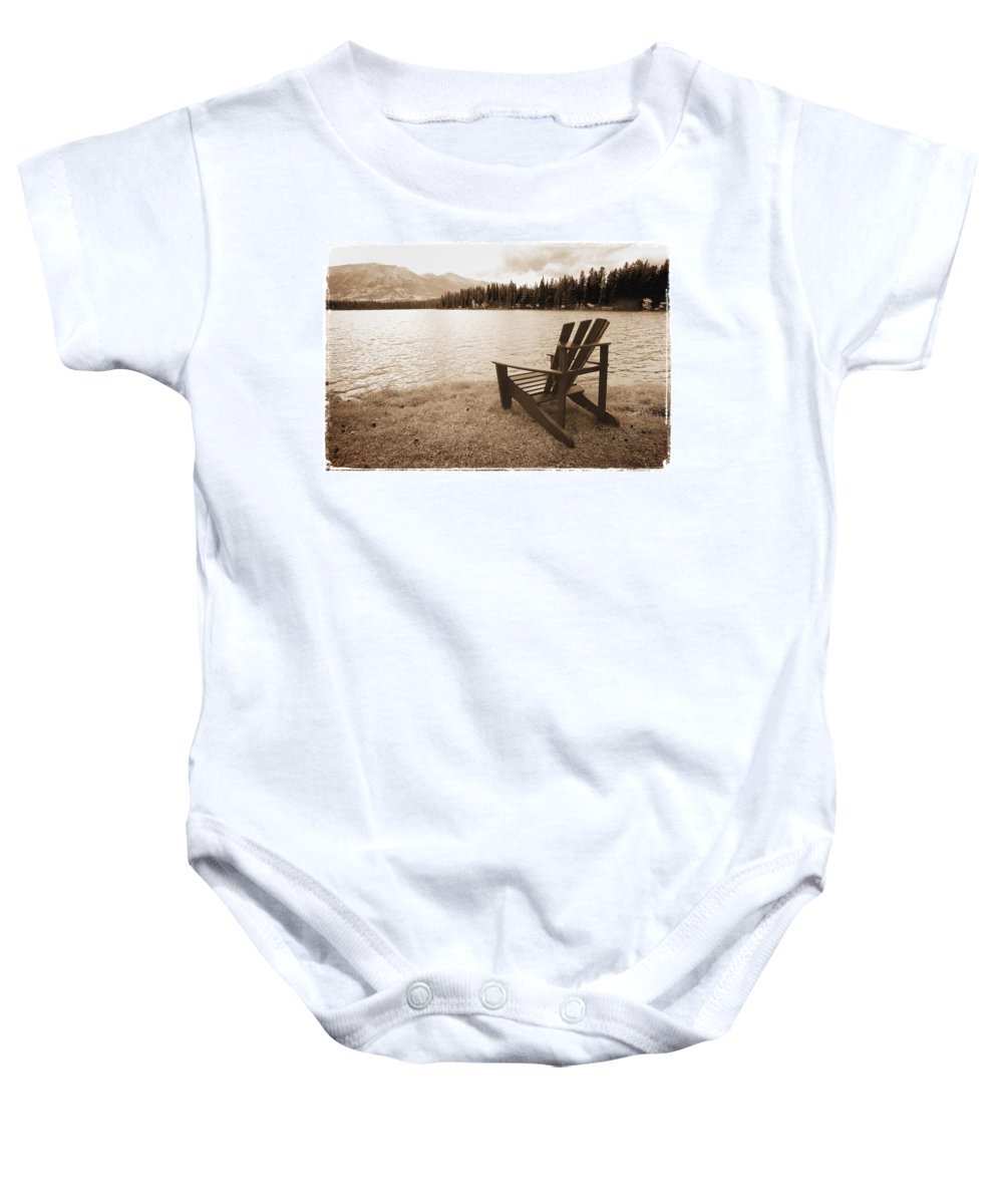 Horizontal Baby Onesie featuring the photograph Mountain Lake View by Don Hammond