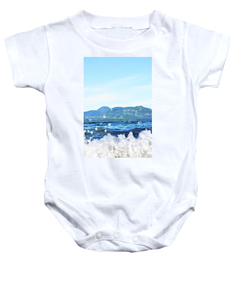 Ocean Baby Onesie featuring the photograph Mountain Waves by Traci Cottingham