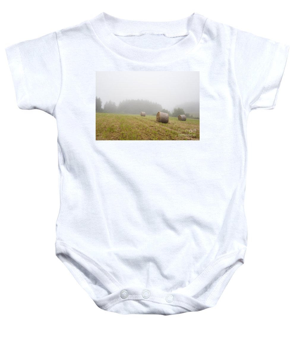 Fog Baby Onesie featuring the photograph Mown Grass by Michal Boubin