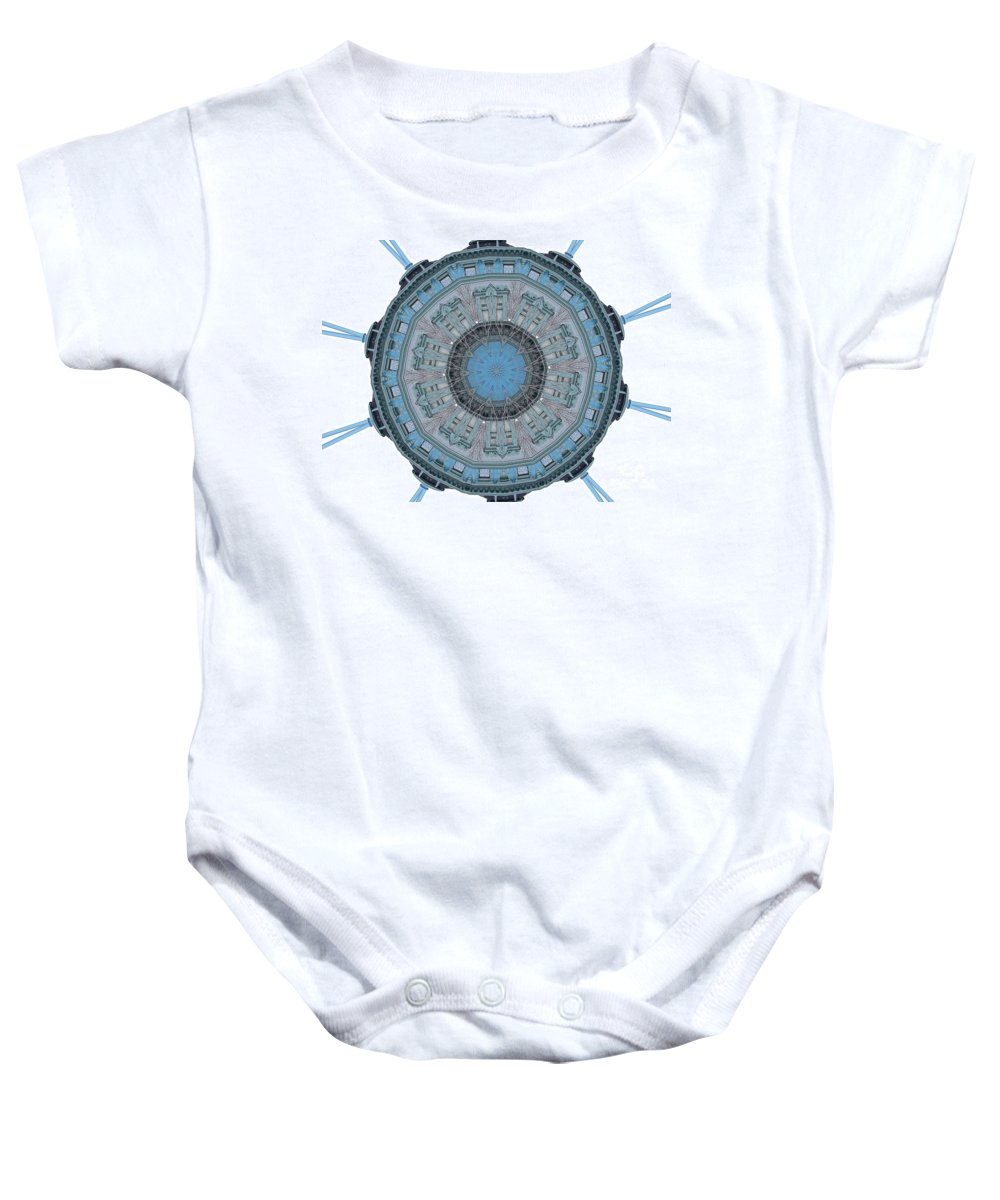 Digital Design Baby Onesie featuring the photograph Music House by Mark Gilman